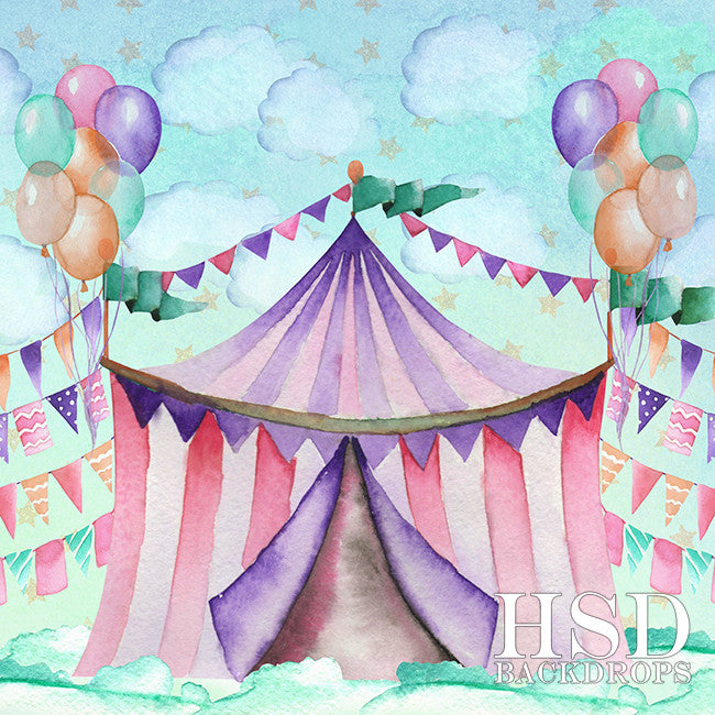 Circus photography backdrop & background