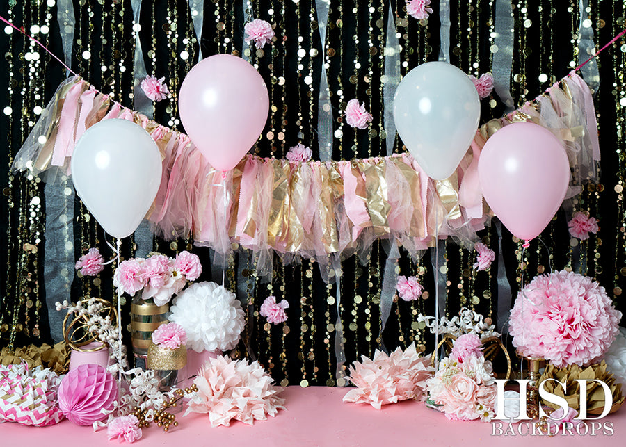 Pink & Gold | Cake Smash Cutie photography backdrop & background