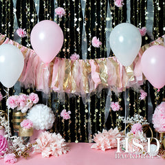 Pink & Gold Photography Backdrop | Cake Smash Cutie