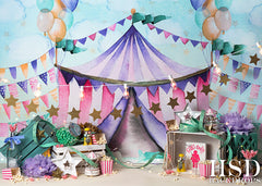 Photography Backdrop Background | Circus Set Up
