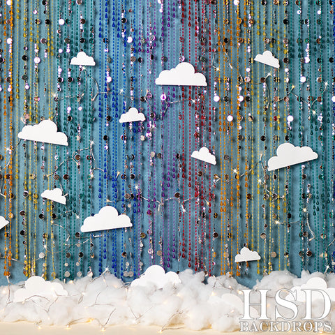 Birthday Photography Backdrop | Over the Rainbow