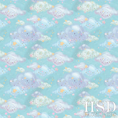 Photography Backdrop Background | Cotton Candy Clouds