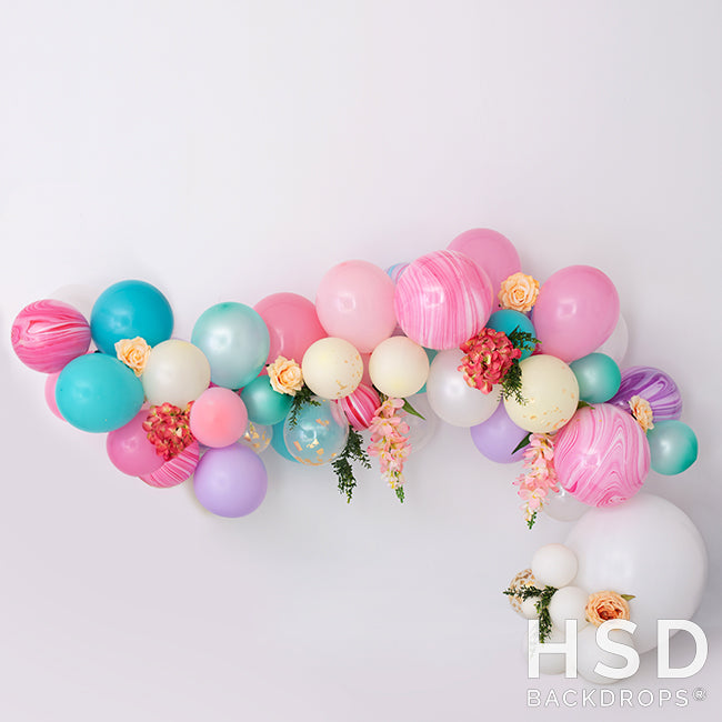 Blooms & Balloons photography backdrop & background