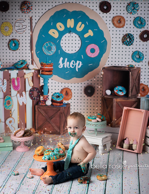 Donut Grow Up photography backdrop & background
