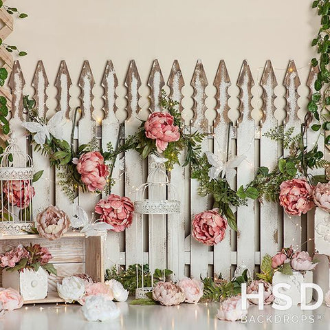 Photography Backdrop Background | Butterflies & Blooms