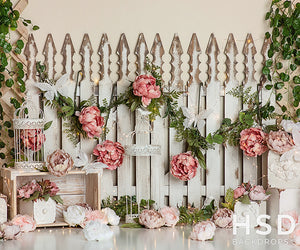 Butterflies & Blooms photography backdrop & background