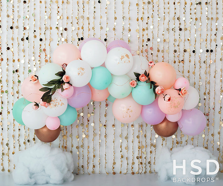 Unicorn Party photography backdrop & background