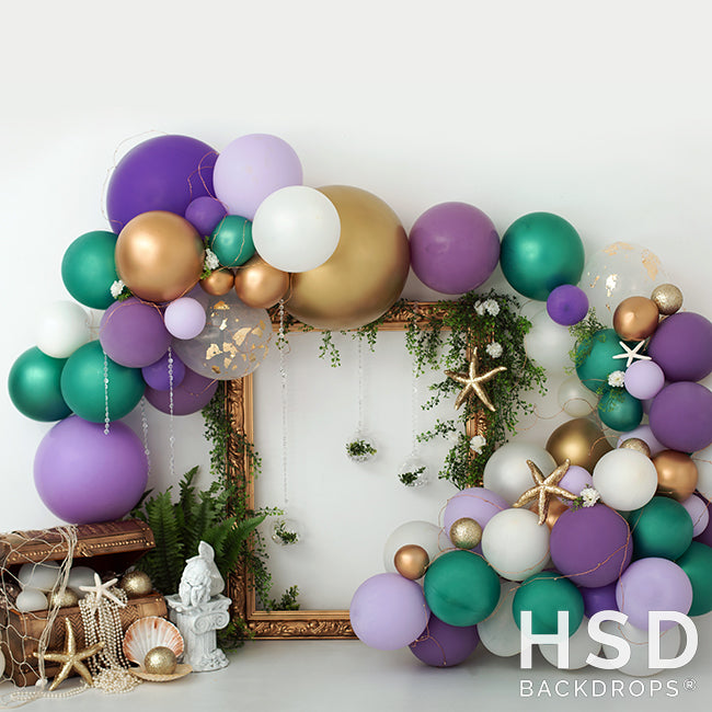 Mermaid Party photography backdrop & background
