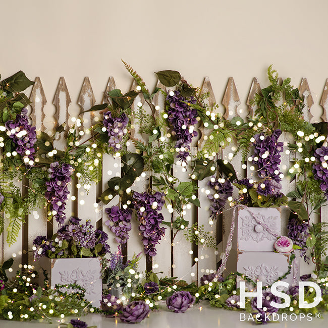 Wisteria Garden photography backdrop & background