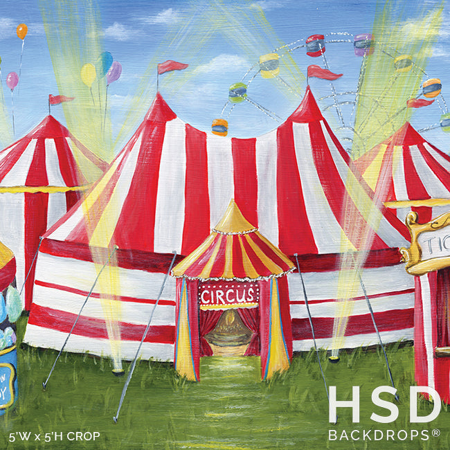 Circus Theme photography backdrop & background
