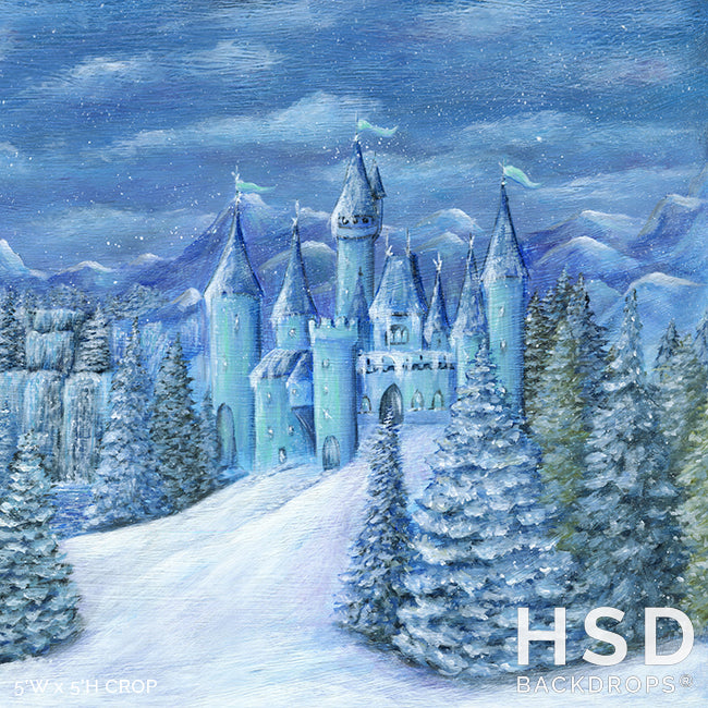Ice Princess Winter Castle photography backdrop & background
