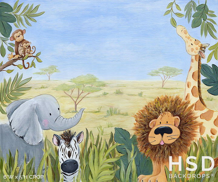 Baby Safari Theme photography backdrop & background