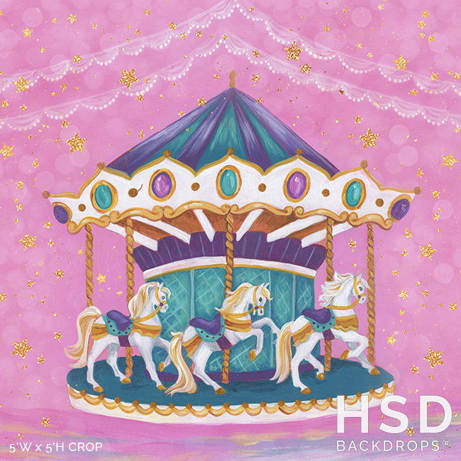 Carousel Horse photography backdrop & background