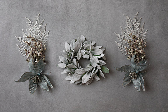 Digital Backdrop | A Perfect Winter Coll. | Wintry White Floral I - HSD Photography Backdrops