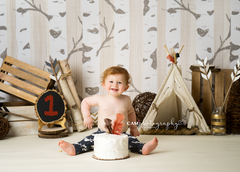 Photography Backdrop Background | Woodland Birch Trees