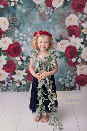 Kate Christmas Floral photography backdrop & background
