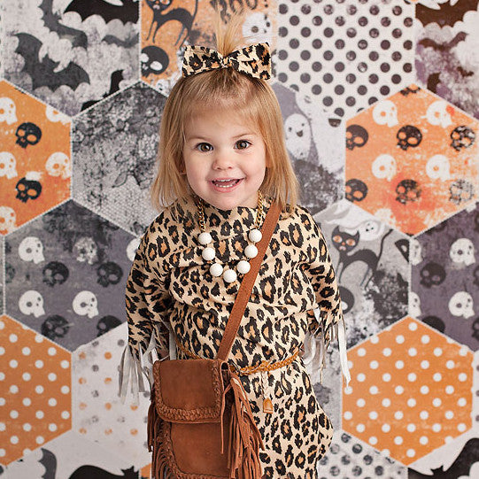 Photography Backdrops - Photo Backgrounds | Vintage Halloween Quilt