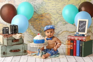 World Traveler photography backdrop & background