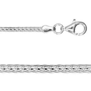 "Sterling Silver: 20"" Foxtail Neck Chain"
