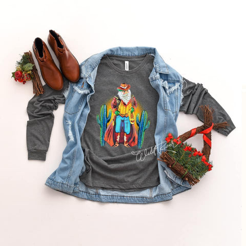 Cowboy Santa Long Sleeve
