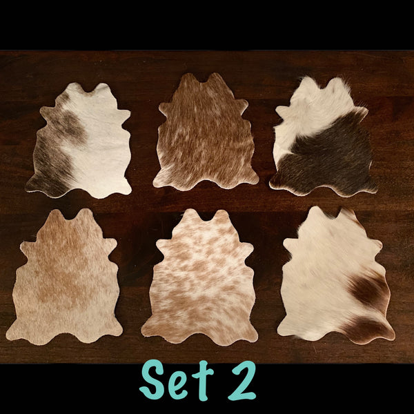 Cowhide Coasters