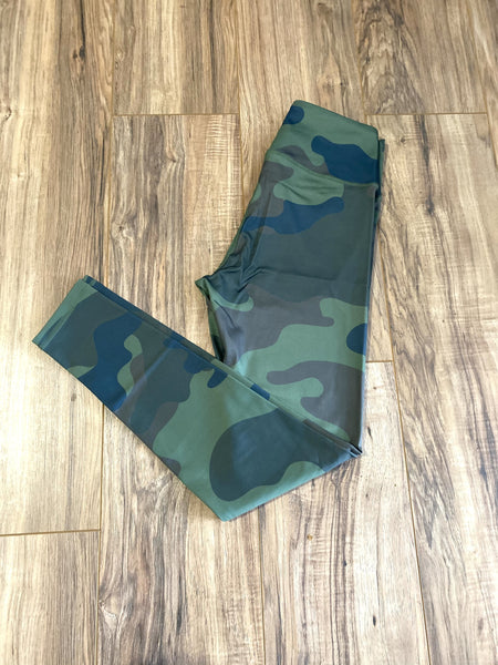 Green Camo Legging