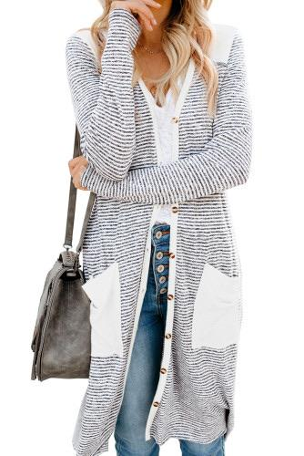 White Stripe Cardigan