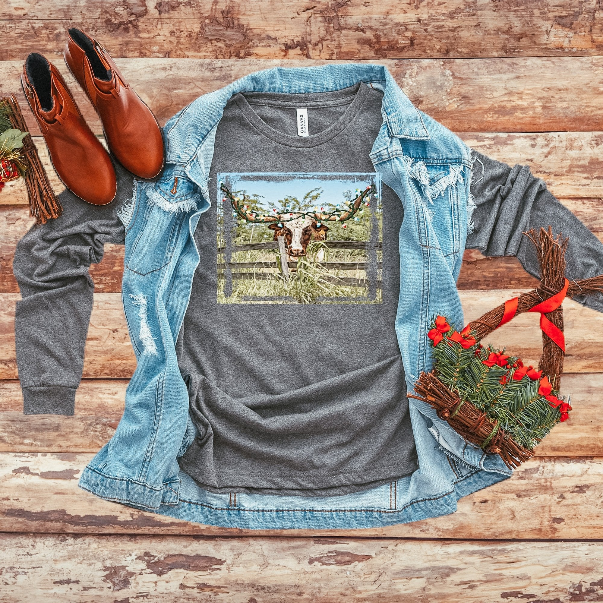 LONG SLEEVE - LONGHORN CHRISTMAS