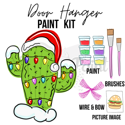 Christmas Cactus- DIY Door Hanger Paint Kit