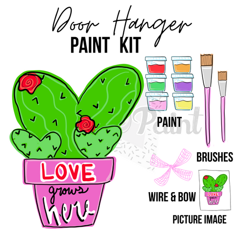 Cactus Love -DIY Door Hanger Paint Kit