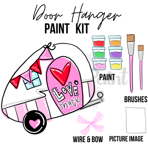 Love Shack Camper- DIY Door Hanger Paint Kit
