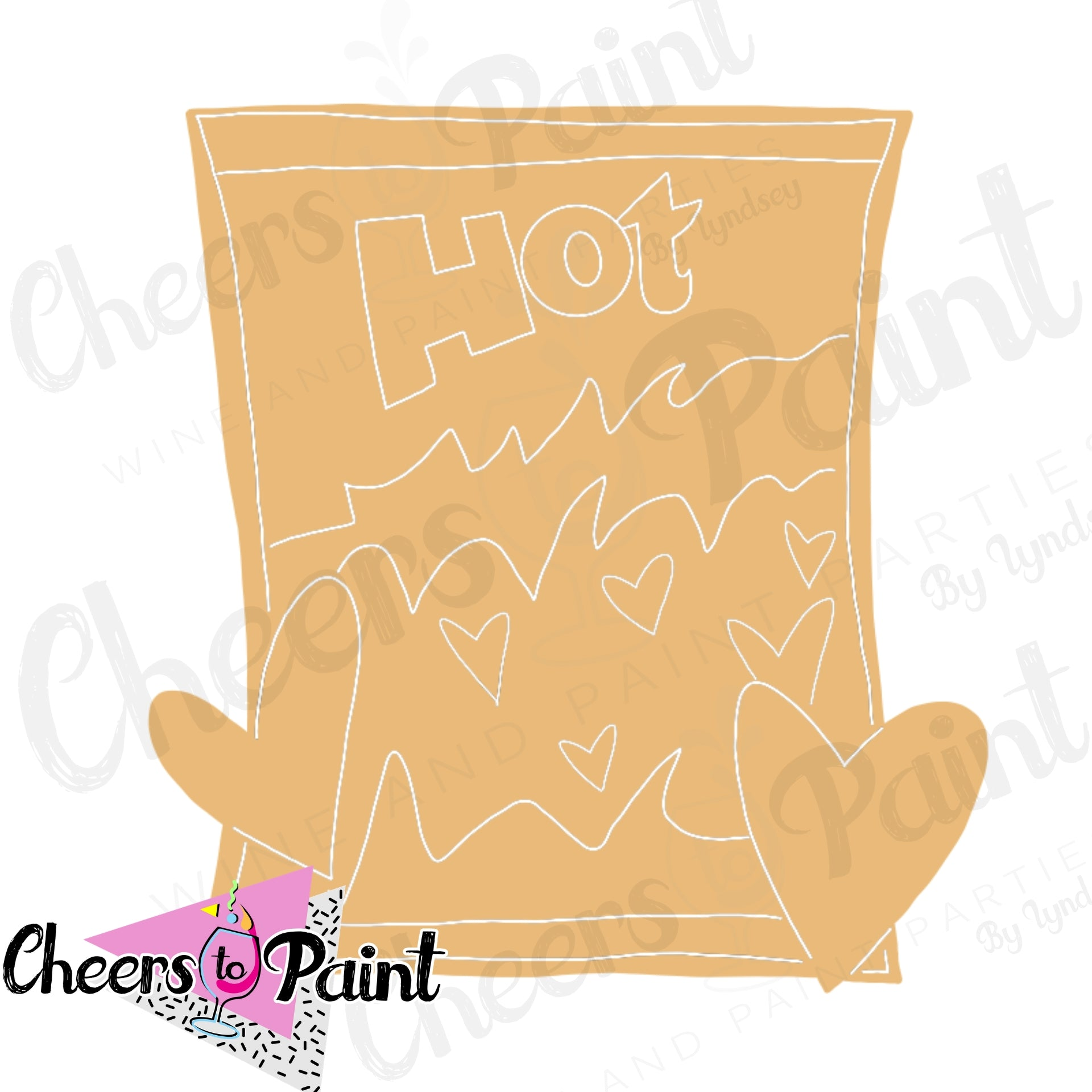 Unfinished- Hot Chip Bag Wood Cutout