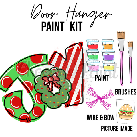 JOY Wreath- DIY Door Hanger Paint Kit