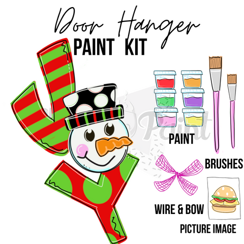 JOY Snowman- DIY Door Hanger Paint Kit