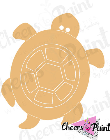 Unfinished- Turtle Wood Cutout