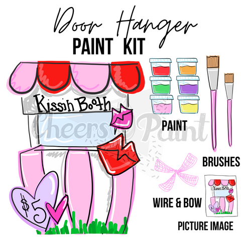 Kissing Booth- DIY Door Hanger Paint Kit