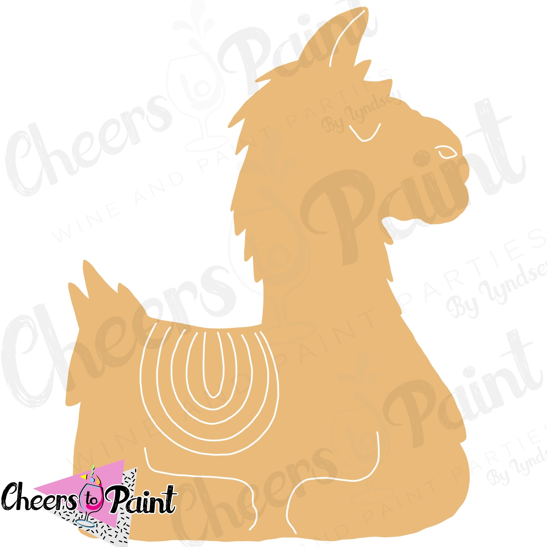 Unfinished- Llama Wood Cutout