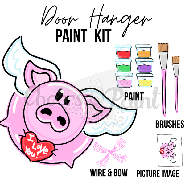 Love Piggy- DIY Door Hanger Paint Kit