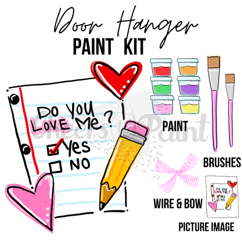 Check Yes or No- DIY Door Hanger Paint Kit