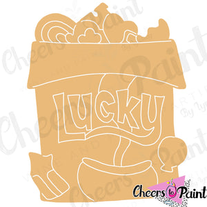 Unfinished- Lucky Charms Wood Cutout