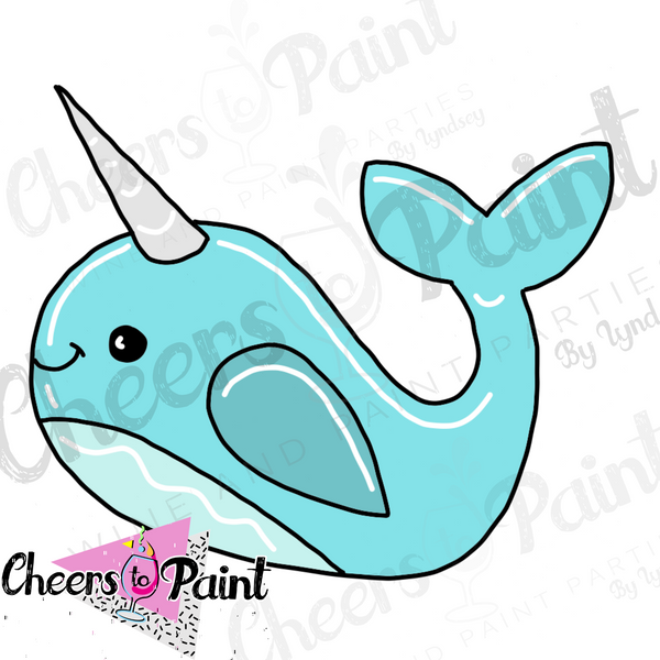 Narwhal- DIY Door Hanger Paint Kit