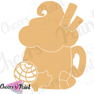Unfinished- Pan Dulce Mug Wood Cutout