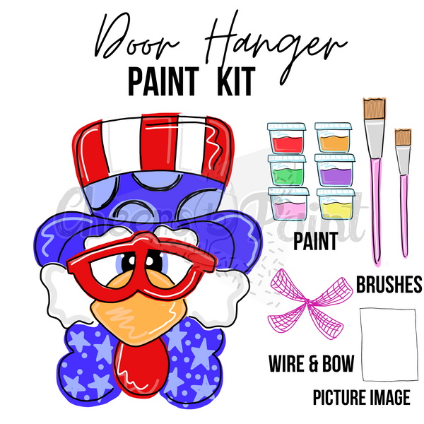 Patriotic Eagle- DIY Door Hanger Paint Kit