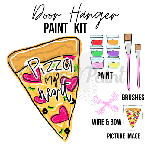 Pizza With Words- DIY Door Hanger Paint Kit