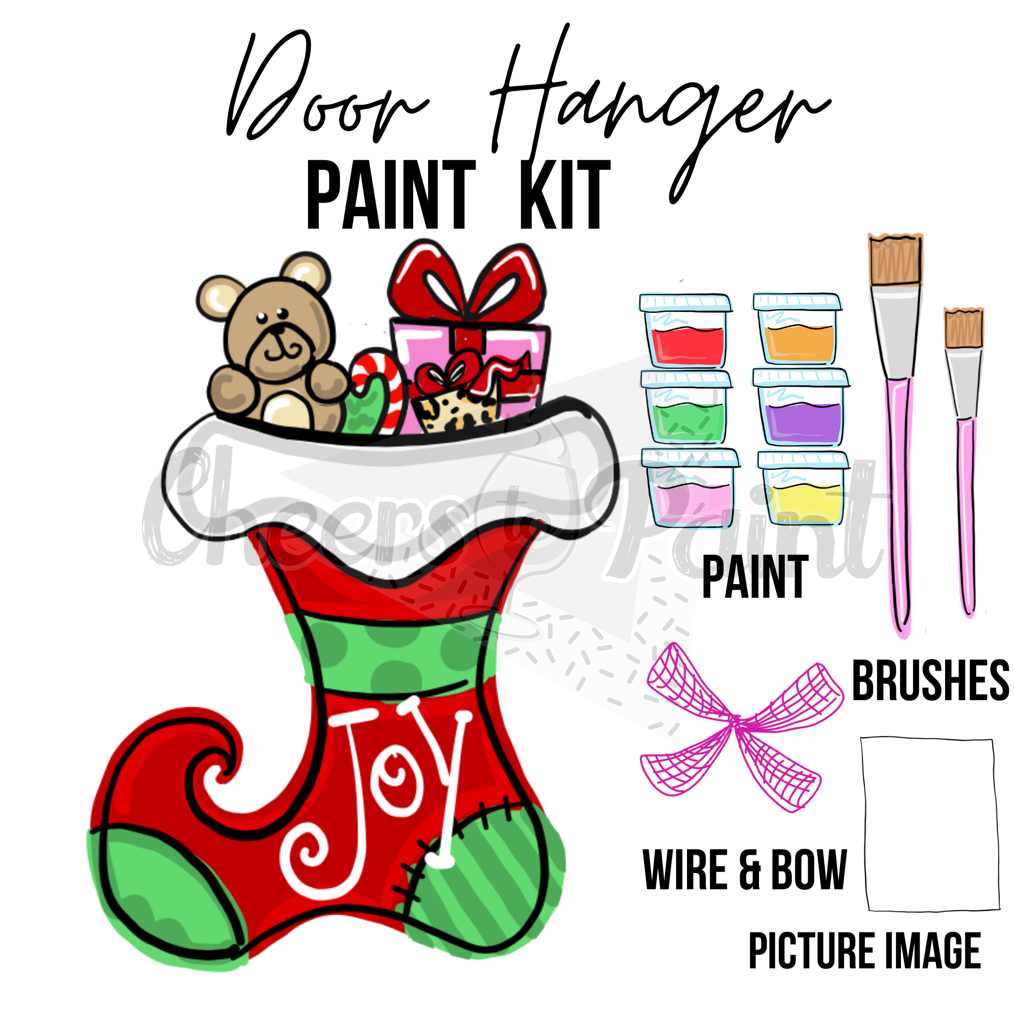 Present Stocking- DIY Door Hanger Paint Kit