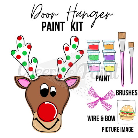 Reindeer- DIY Door Hanger Paint Kit