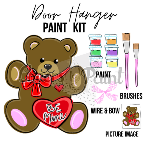 Teddy Bear- DIY Door Hanger Paint Kit