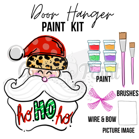 Santa Claus- DIY Door Hanger Paint Kit