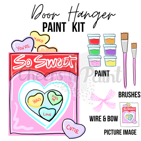 Sweetheart Candy Box- DIY Door Hanger Paint Kit