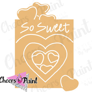 Unfinished- Sweetheart Candy Box Wood Cutout